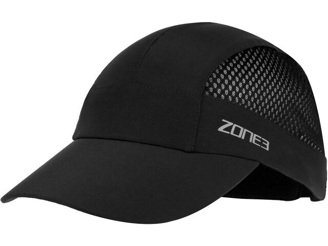 Zone3 Lightweight Mesh Running Baseball Cap black/reflective silver